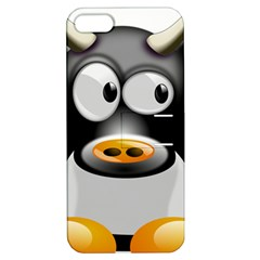 Cow Animal Mammal Cute Tux Apple Iphone 5 Hardshell Case With Stand