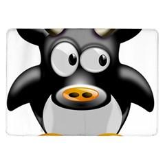 Cow Animal Mammal Cute Tux Samsung Galaxy Tab 10 1  P7500 Flip Case