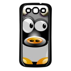 Cow Animal Mammal Cute Tux Samsung Galaxy S3 Back Case (black)