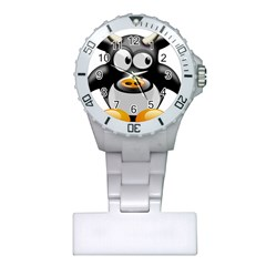 Cow Animal Mammal Cute Tux Plastic Nurses Watch