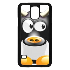Cow Animal Mammal Cute Tux Samsung Galaxy S5 Case (black)