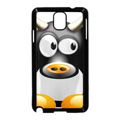 Cow Animal Mammal Cute Tux Samsung Galaxy Note 3 Neo Hardshell Case (black)