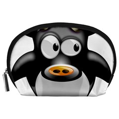 Cow Animal Mammal Cute Tux Accessory Pouches (large)
