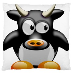 Cow Animal Mammal Cute Tux Standard Flano Cushion Case (two Sides)