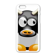 Cow Animal Mammal Cute Tux Apple Iphone 6/6s White Enamel Case