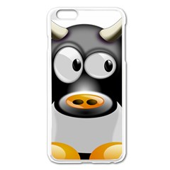Cow Animal Mammal Cute Tux Apple Iphone 6 Plus/6s Plus Enamel White Case