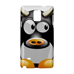 Cow Animal Mammal Cute Tux Samsung Galaxy Note 4 Hardshell Case