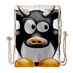 Cow Animal Mammal Cute Tux Drawstring Bag (large)