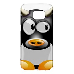 Cow Animal Mammal Cute Tux Samsung Galaxy S7 Edge Hardshell Case