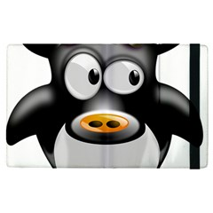 Cow Animal Mammal Cute Tux Apple Ipad Pro 12 9   Flip Case