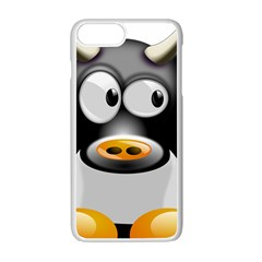 Cow Animal Mammal Cute Tux Apple Iphone 7 Plus Seamless Case (white)