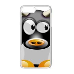 Cow Animal Mammal Cute Tux Apple Iphone 8 Plus Seamless Case (white)