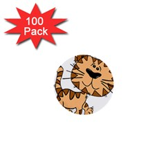 Cats Kittens Animal Cartoon Moving 1  Mini Buttons (100 Pack)