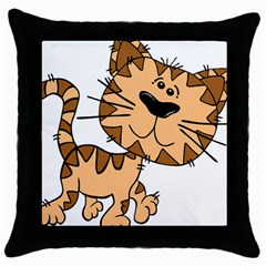 Cats Kittens Animal Cartoon Moving Throw Pillow Case (black)
