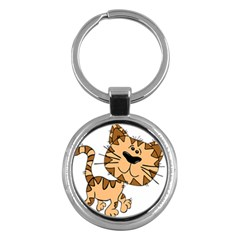 Cats Kittens Animal Cartoon Moving Key Chains (round)
