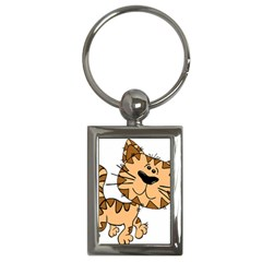 Cats Kittens Animal Cartoon Moving Key Chains (rectangle)