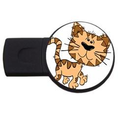 Cats Kittens Animal Cartoon Moving Usb Flash Drive Round (2 Gb)