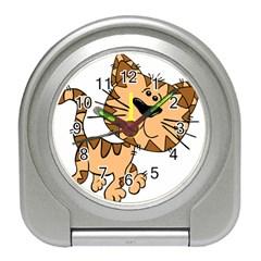 Cats Kittens Animal Cartoon Moving Travel Alarm Clocks