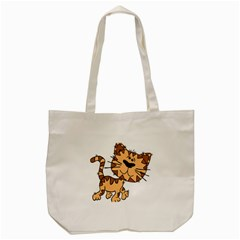 Cats Kittens Animal Cartoon Moving Tote Bag (cream)