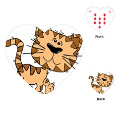 Cats Kittens Animal Cartoon Moving Playing Cards (heart)