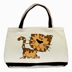 Cats Kittens Animal Cartoon Moving Basic Tote Bag