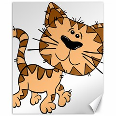 Cats Kittens Animal Cartoon Moving Canvas 11  X 14