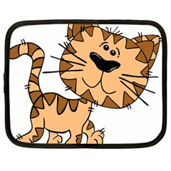 Cats Kittens Animal Cartoon Moving Netbook Case (large)