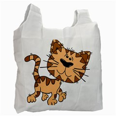 Cats Kittens Animal Cartoon Moving Recycle Bag (two Side)
