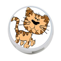 Cats Kittens Animal Cartoon Moving 4 Port Usb Hub (two Sides)