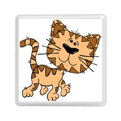 Cats Kittens Animal Cartoon Moving Memory Card Reader (square)