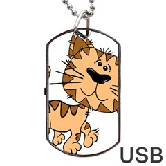 Cats Kittens Animal Cartoon Moving Dog Tag Usb Flash (one Side)