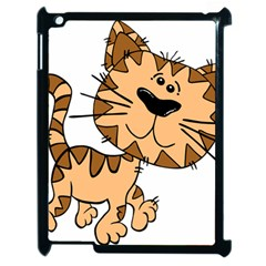 Cats Kittens Animal Cartoon Moving Apple Ipad 2 Case (black)
