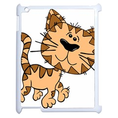Cats Kittens Animal Cartoon Moving Apple Ipad 2 Case (white) by Simbadda