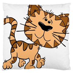 Cats Kittens Animal Cartoon Moving Large Cushion Case (two Sides)