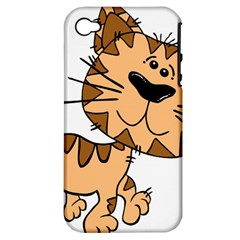 Cats Kittens Animal Cartoon Moving Apple Iphone 4/4s Hardshell Case (pc+silicone)