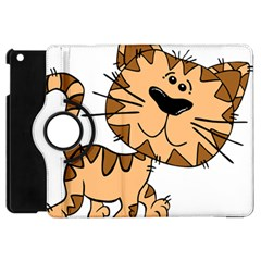 Cats Kittens Animal Cartoon Moving Apple Ipad Mini Flip 360 Case