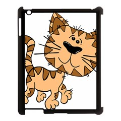 Cats Kittens Animal Cartoon Moving Apple Ipad 3/4 Case (black)