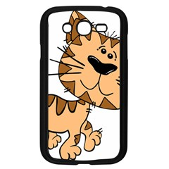 Cats Kittens Animal Cartoon Moving Samsung Galaxy Grand Duos I9082 Case (black)