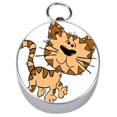 Cats Kittens Animal Cartoon Moving Silver Compasses