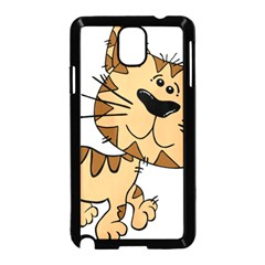 Cats Kittens Animal Cartoon Moving Samsung Galaxy Note 3 Neo Hardshell Case (black)