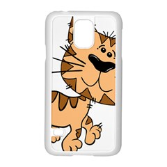 Cats Kittens Animal Cartoon Moving Samsung Galaxy S5 Case (white)