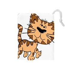 Cats Kittens Animal Cartoon Moving Drawstring Pouches (medium)
