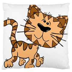 Cats Kittens Animal Cartoon Moving Standard Flano Cushion Case (two Sides)