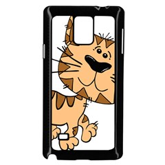 Cats Kittens Animal Cartoon Moving Samsung Galaxy Note 4 Case (black)
