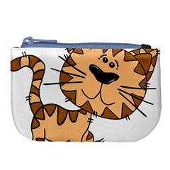 Cats Kittens Animal Cartoon Moving Large Coin Purse