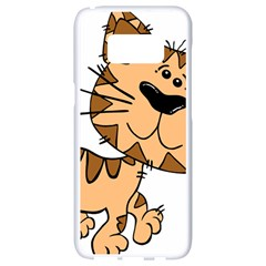 Cats Kittens Animal Cartoon Moving Samsung Galaxy S8 White Seamless Case
