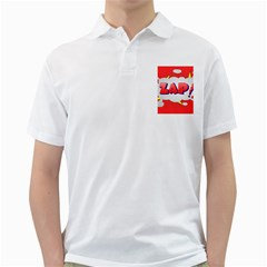 Comic Bubble Popart Cartoon Action Golf Shirts