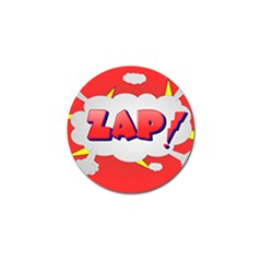 Comic Bubble Popart Cartoon Action Golf Ball Marker (4 Pack) by Simbadda