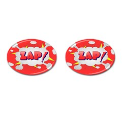 Comic Bubble Popart Cartoon Action Cufflinks (oval)