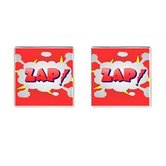 Comic Bubble Popart Cartoon Action Cufflinks (square) by Simbadda